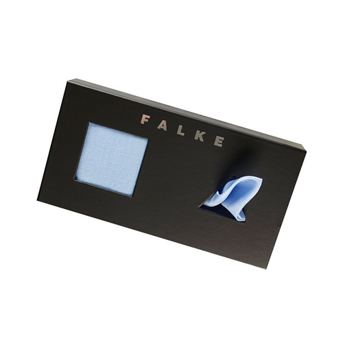 FALKE Airport Pocket Square GIFT set - BLEUE